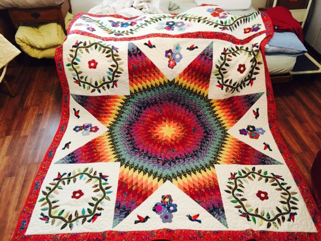 8-pointed star quilt by Sally Eklund