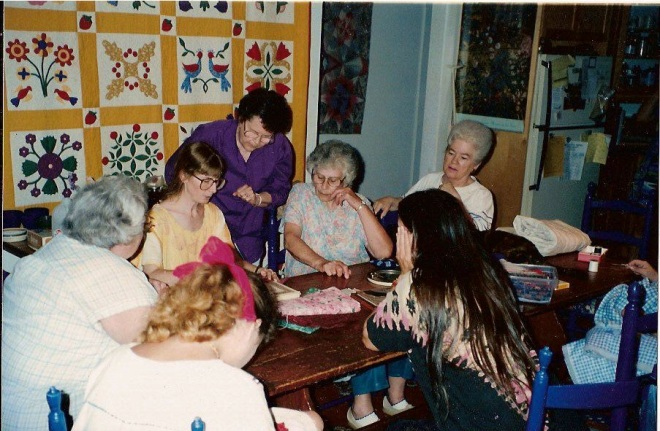 a quilting class conducted by Sally Eklund