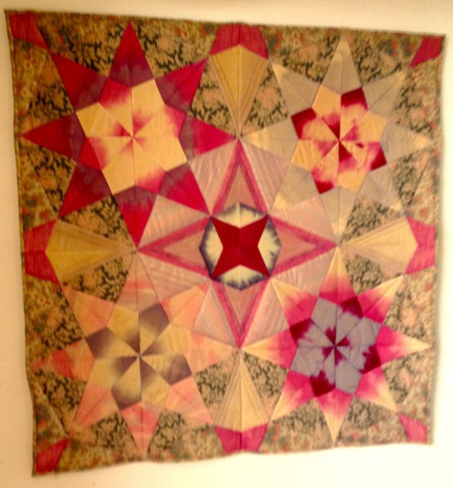 untitled geometric star-themed quilt by Sally Eklund