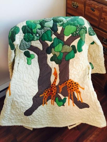 Giraffe jacket by Sally Eklund (back)