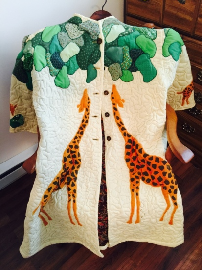 Giraffe jacket by Sally Eklund