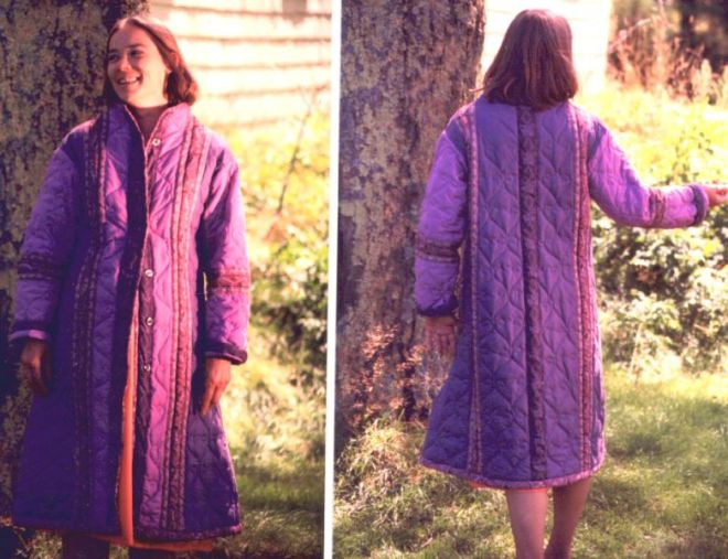 long quilted jacket by Sally Eklund