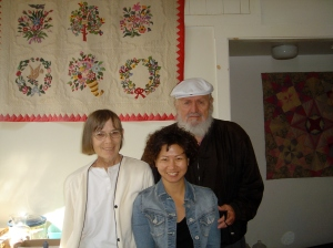 Sally Eklund with her husband and daughter-in-law in 2006