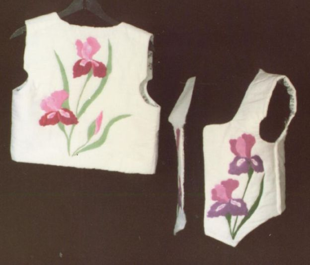 vests with flower design created by Sally Eklund