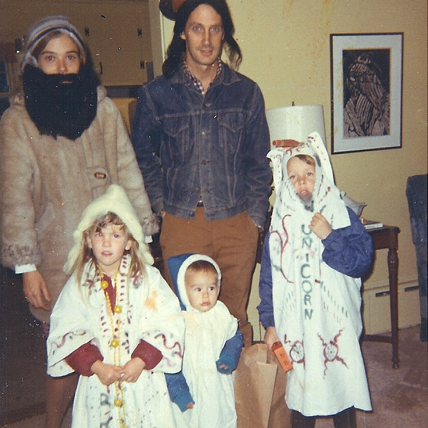 family Halloween in the early 1970s