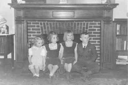four West kids Martha, Nancy, Sally, and George in the 1940s