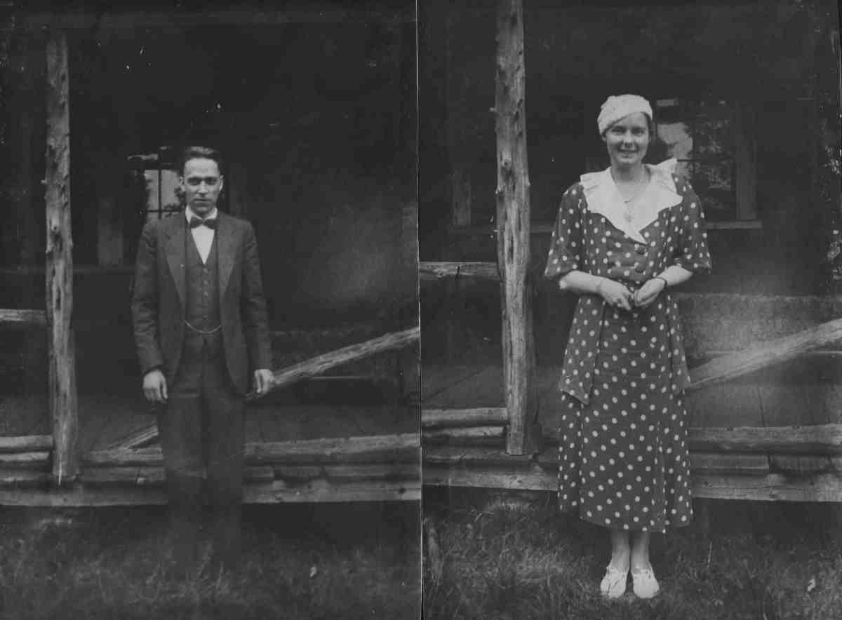 parents George and Bernice West in Essex, Massachusetts in 1933
