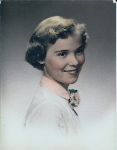 high school picture from around 1954-1955