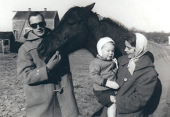 on farm in South Dartmouth, Masachusetts in the mid-1960s