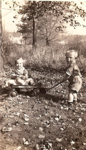 Sally and brother George in 1938