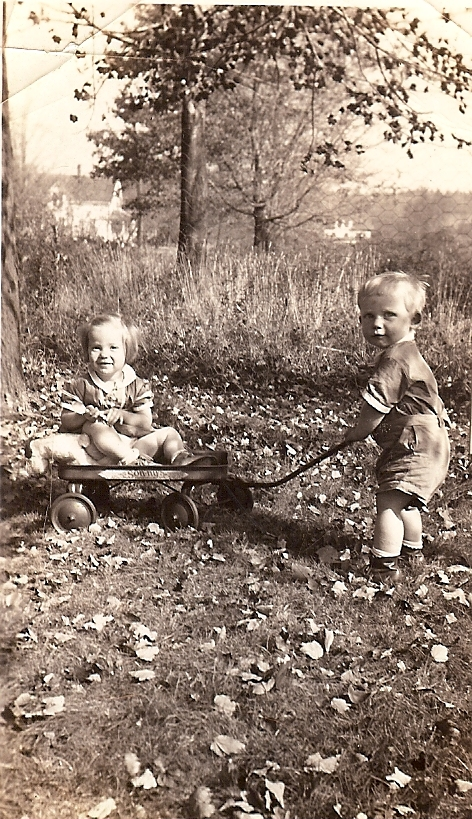 with brother George in 1938