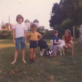 Sally and the children in the early 1970s