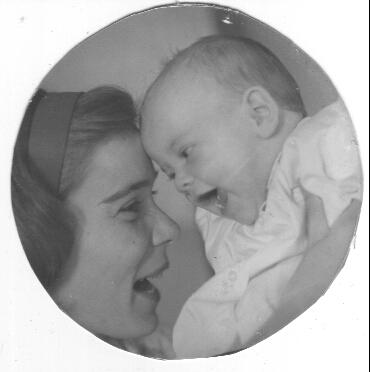 with daughter around 1966