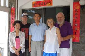 Sally and family with Taiwanese ambassador to St. Vincent in 2008