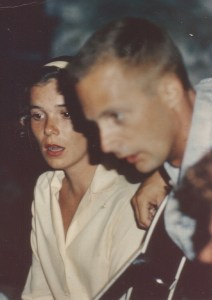 Sally and first husband in 1964
