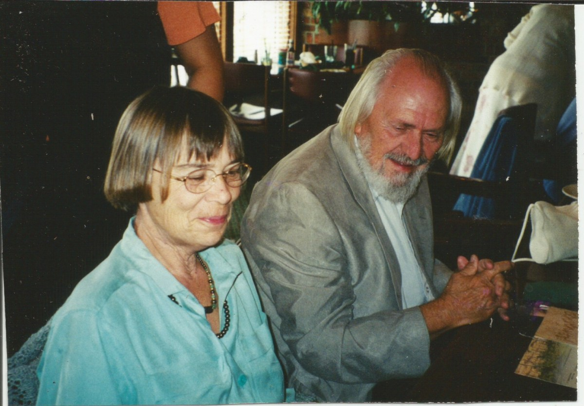 with husband in 2001