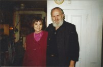 with husband in the 1990s