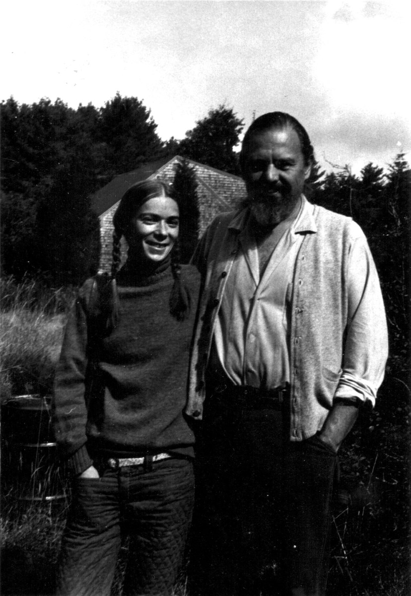 with husband in 1980s