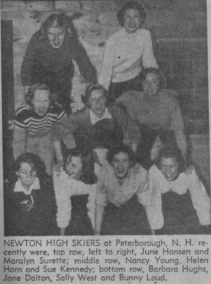 on ski trip to New Hampshire in 1954