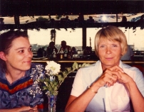 with her sister-in-law Marge