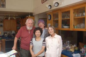 Sally with husband, older son, and daughter-in-law in 2008