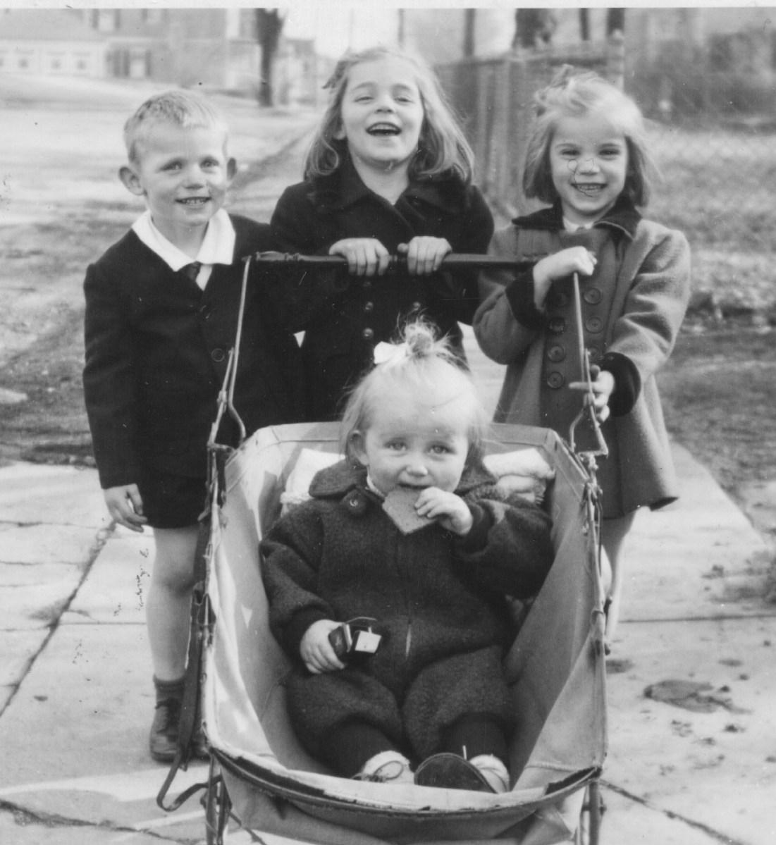 the West kids - George, Sally, Martha, and Nancy