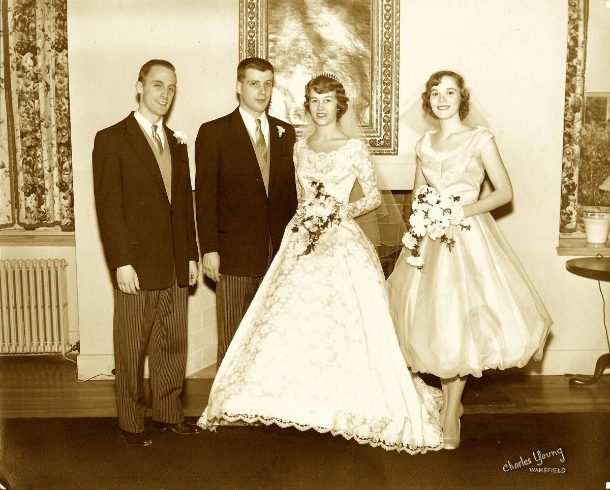 with brother-in-law and wife in 1960s