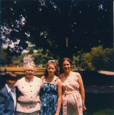younger son, mother Bernice, daughter, and Sally in the 1980s