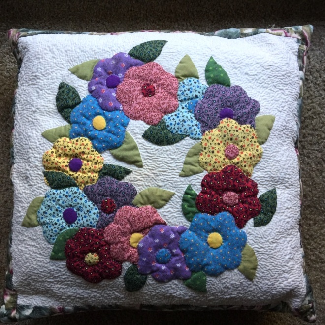 024 Flower wreath pillow case
